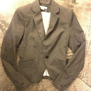 H&M gray (grey) fitted blazer